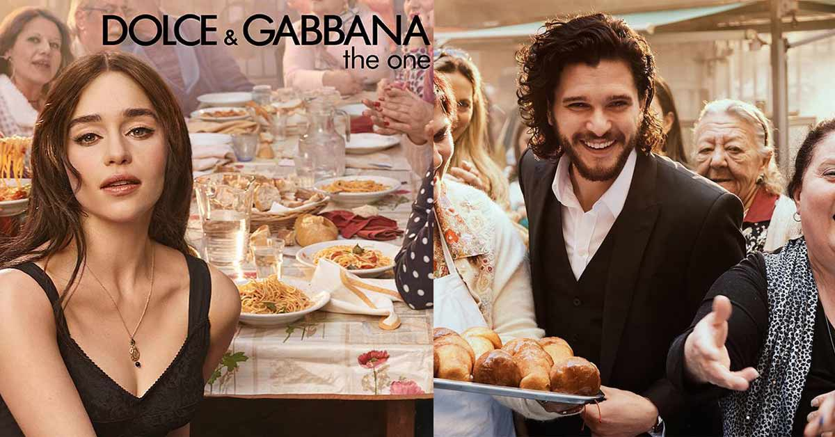 emilia clarke et kit harrington go tent la dolce vita pour dolce gabbana femmes de tunisie. Black Bedroom Furniture Sets. Home Design Ideas